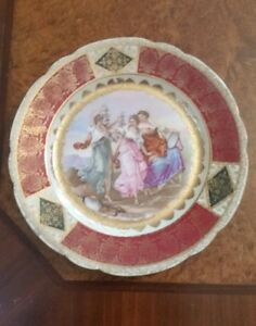 Signed A Kauffman Royal Vienna Hand Painted Porcelain Figural Plate C 1800 S