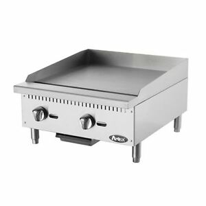 Commercial 24 inch Stainless Steel Manual Griddle Atosa Atmg 24