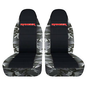 Alpine Camouflage Bucket Seat Covers With Black Center 2006 To 2011 Ford Ranger