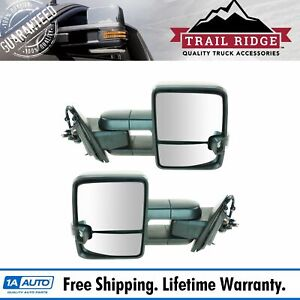 Trail Ridge Tow Mirror Power Fold Heat Signal Spotlight Oat Textured Pair For Gm