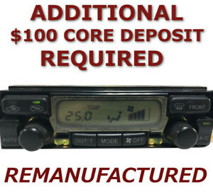 Reman 99 02 Toyota 4runner Ac Heater Climate Temperature Control Automatic Eatc