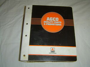 Agco White Tractor Parts Accessories And Merchandise Sales Manual