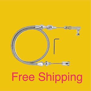 Universal Stainless Steel Pedal Cable 36 W Aluminum Ends
