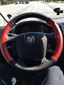 Dodge Promaster Genuine Leather Steering Wheel Cover With Needles And Thread
