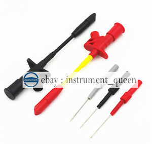 4mm Banana Flexible Silicone Back Pin Red Black Gray test Probe Spring Load