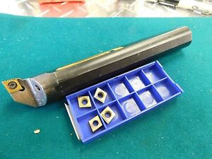 Kennametal 1 0 X 7 0 Boring Bar A16 Sclpl3 With 5 New Cpgt 321 Inserts