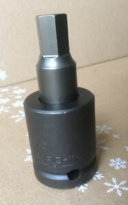 Wright Tool 6218 3 4 Drive Impact 9 16 Hex Type Socket With Bit