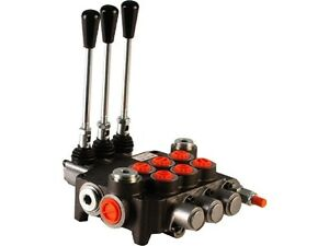 3 Spool Hydraulic Directional Control Valve 11gpm Double Acting Cylinder Spool