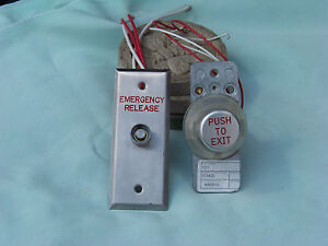 Lot Of 2 Pneumatic Emergency Release Exit Buttons Access Control