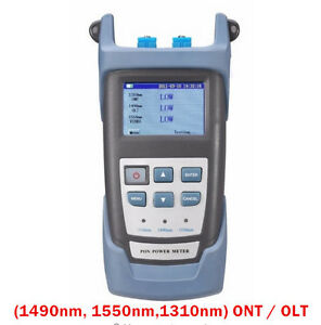 Pon Optical Power Meter With Pon Network Testing Wavelength 1490 1550 1310nm
