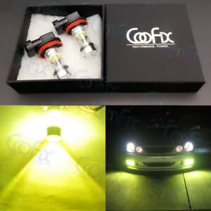 New 2x H8 H9 H11 H16 3000k Yellow 100w Led Cree Headlight Bulbs Kit Fog Light
