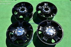 20 Ford F250 Super Duty Harley Davidson Oem Factory Wheels F350 Gloss Black
