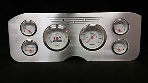 1955 1956 1957 1956 1959 Gmc 6 Gauge Dash Cluster Set Billet Insert White