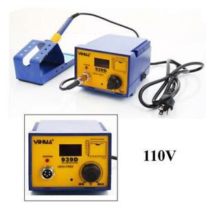 Yihua 939d 110v 60w Rework Electric Smd Esd Soldering Iron Station Kit W Stand