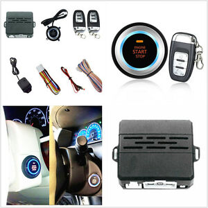 Car Alarm System Security Vibration Alarm Engine Start Push Button Remote Start