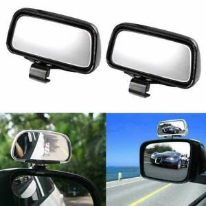 Car Adjustable Rectangle Half On Wide View Blind Angle Auxiliary Spot Mirror Kit