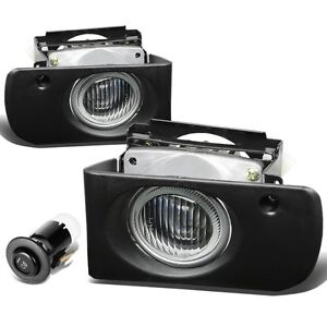 1994 1997 Acura Integra Clear Bumper Fog Lights Driving Lamps Replacement Set