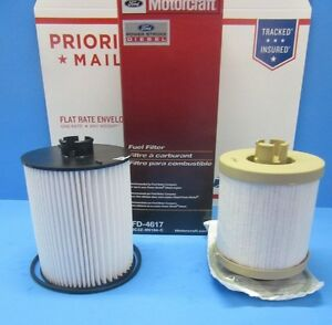 Primary Secondary Diesel Fuel Filters Motorcraft For Ford Oem Bc3z9n184b