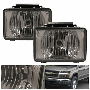 2004 12 Chevy Colorado Front Driving Replacement Upgrade Fog Light Chrome Smoked
