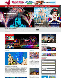 Disney World Disneyland Vacation Travel Affiliate Website For Sale