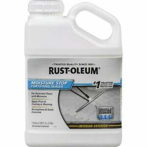 4 Pk Rust oleum 1 Gal Clear Moisture Stop Fortifying Concrete Sealer 301239