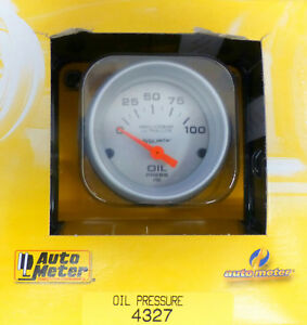 Auto Meter 4327 Ultra Lite Pro Comp Oil Pressure Gauge Electric 0 100 Psi 2 1 16
