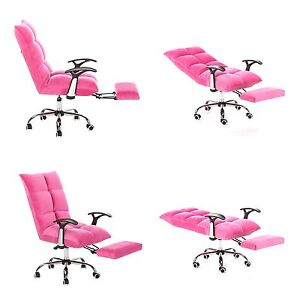 Tatami Computer Office Desk Chair High Back Adjustable Angle Microfiber Pink