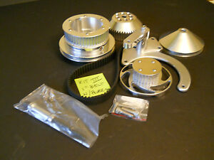 Small Block Chevy Long Water Pump Billet Aluminum 1 Cog Belt Pulleys