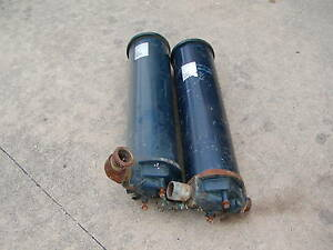 Two 6 Cuno 2 Cartridge Filter Housings 25 Micron Elements Sold As A Lot