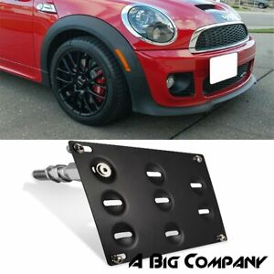 For 02 13 Mini Cooper S R55 R56 R57 Bumper Tow Hook License Plate Bracket Holder