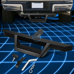 Matte Black 32 5 x 2 25 Trailer Tow Hitch Step Pedal pin clip Fit 2 Receivers