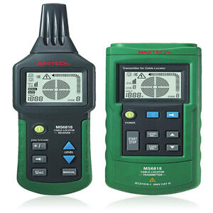 Mastech Ms6818 Metal Pipe Locator Underground Wire Cable Detector Tester Tool