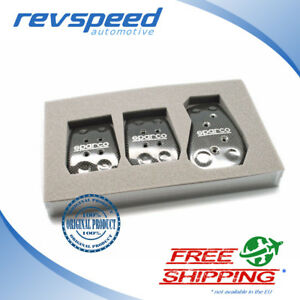 Sparco Carbon Fiber Manual Pedals Genuine And Brand New Set 03783l