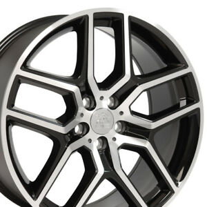 20x9 Black Machined Explorer Style Wheel Set Of 4 20 Rims Fit Ford Lincoln Cp