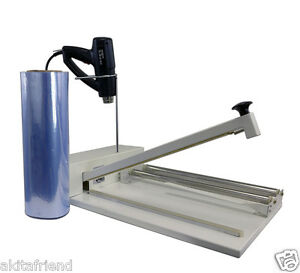 24 Shrink Wrap Machine Heat Sealer System Heat Gun And 500 Ft Film Included