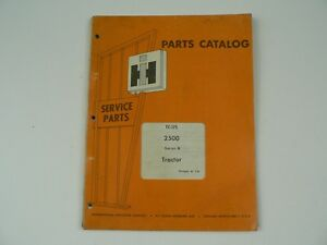 Service Parts Catalog International Harvester Tc 175 2500 Series B Tractor 1974