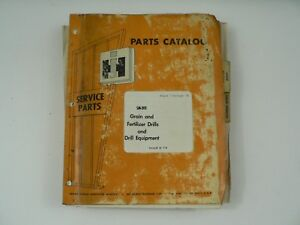 Parts Catalog International Harvester Sm 202 Grain Fertilizer Drills Equip 1974