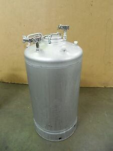 Alloy Products 10 Gallon Stainless S s Pressure Vessel Pot T304 130psi