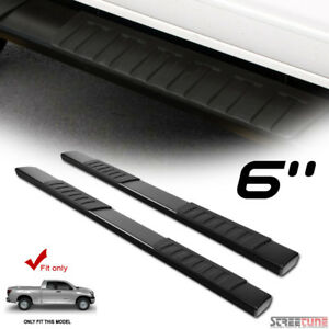 6 Oe Aluminum Steel Black Side Step Running Boards For 07 18 Tundra Double Cab
