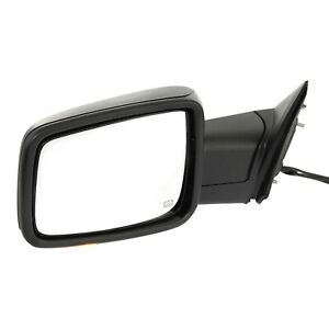 Kool Vue Mirror For 2013 18 Ram 1500 Power Folding Signal Light Textured Left