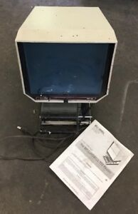 Bell Howell Bh110 Single dual Lens Reader Microfilm Microfiche G60