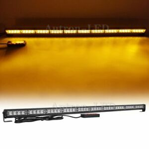 40 Led 43 Amber Flash Traffic Advisor Directional Arrow Warn Strobe Light Bar