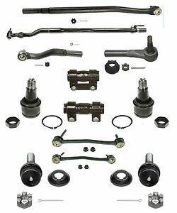 12 Piece Tie Rod Ball Joint Kit For Ford Excursion F250 F350 Super Duty 4wd