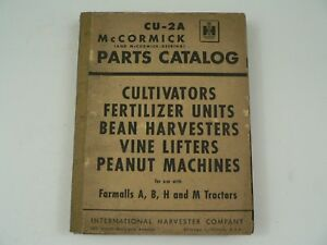 Mccormick Parts Catalog International Harvester Cu 2a Cultivators Peanut 1951