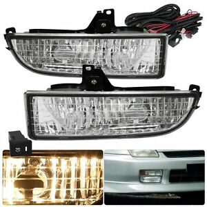 97 01 Honda Prelude Clear Lens Bumper Fog Lights Driving Lamps Replacement Kit