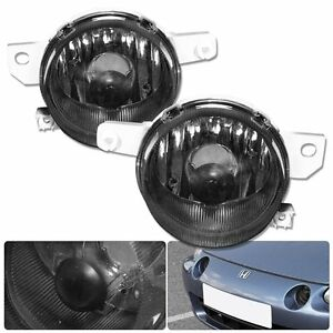 93 97 Honda Del Sol Smoked Fog Light Lights S si Eg2 Lamps New Pair Assembly Jdm