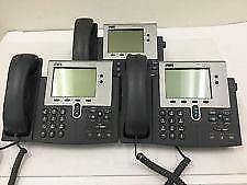 Lot Of 3 Cisco Business Office Voip Unified Ip Phone 7940g W handset Cp 7940g