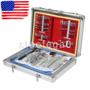104pcs Optical Lens Optometry Box Case Kit W Free Optometry Test Trial Frame Us