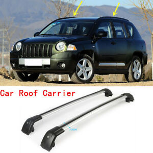 2pc Auto Luggage Carrier Roof Rack Cargo Refit For Jeep Compass 2013 2015