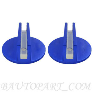 2pc Blue Universal Jack Disk Pad Adapter Aluminium Pinch Weld Side Jackpad